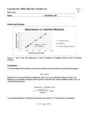 Chemistry Lab Report      LabJournal   Wikispaces