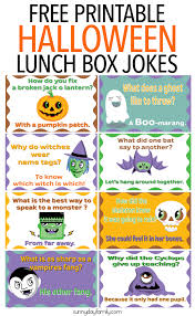 free printable halloween lunch box jokes for kids