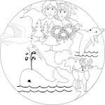 Dibujos Cristianos Para Colorear: La Creación de Dios pa