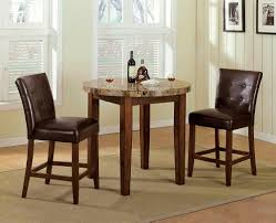 Round Wooden Table Top View Kitchen U0026 Dining Pub Dining Set For Small Space Dining Area