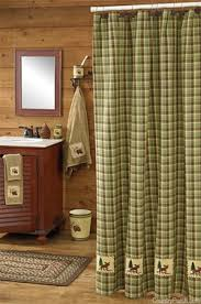 Moose Bathroom Accessories by Cabin Rustic Lodge Shower Curtains Cabin 9 Design