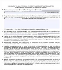 commercial real estate purchase agreement sample personal
