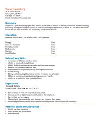 Resume Examples For Food Service by 12 Free High Student Resume Examples For Teens