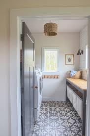 Grey Interior Farmhouse Laundry Room With Grey Interior Door Grey Custom
