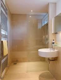 beige and black bathroom ideas square shape black floor tiles
