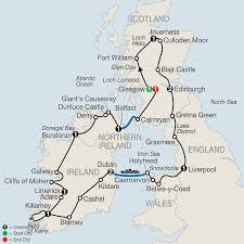 Map Of Ireland And England England Tours Globus England Vacation Packages