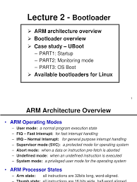 ch2 bootloader booting arm architecture
