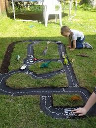 Backyards For Kids by Diy Outdoor Race Car Track For Kids Backyard Activities And Summer Fun
