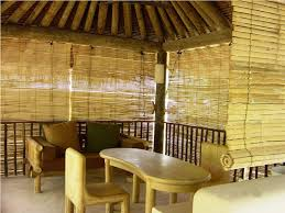 exterior rattan bamboo blinds shades antillesnatural b with