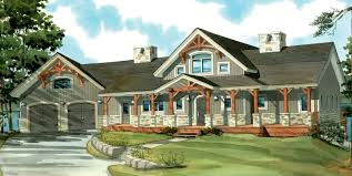 Craftsman Home Plans With Pictures One Story Craftsman House Plans With Porches