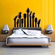 compare prices on rock stickers online shopping buy low price art vinyl bedroom decorative wall mural guitar necks music series wall sticker rock silhouette wall decals