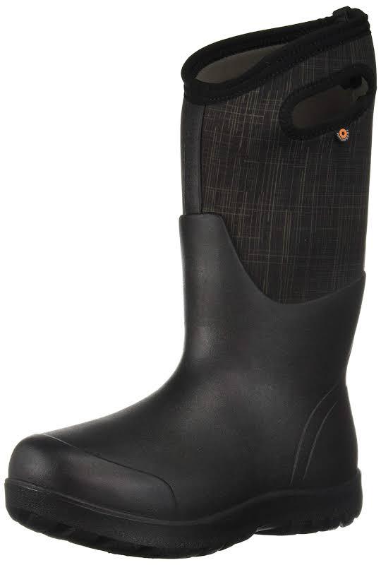 Bogs Neo Classic Tall Linen Black Multi Medium 10 72253-009-M-10