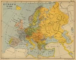 Western Europe Political Map by Of Europe 1910
