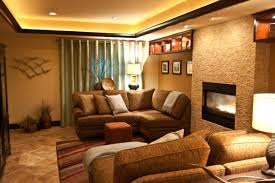 decorating cozy conestoga tile floor with brown sectional sofa