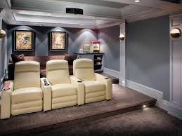 Interior Design For Home Theatre by Flooring Home Theatre With Reclining Chairs And Wall Art Also