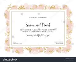 Invitation Card Of Wedding Wedding Invitation Card White Surface Gold Stock Vector 263878379