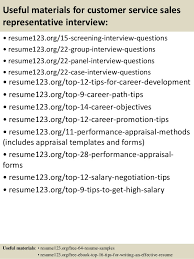 Top   customer service sales representative resume samples SlideShare