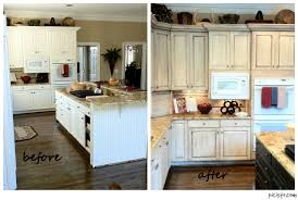 How To Clean Painted Kitchen Cabinets Delighful Kitchen Cabinets Painted Before And After Photos Remodel
