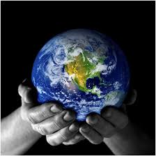 Earth held by two hands. Image from Google Image search.