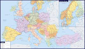 Political Map Europe by Maps Of Europe Map Of Europe In English Political