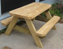 Plans For Wood Picnic Table by Kids Picnic Table Made By E Renshaw