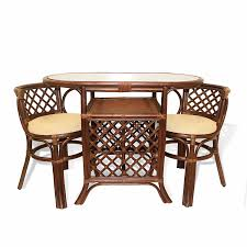 rattan dining room table and chairs