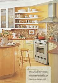 Aluminum Kitchen Backsplash Bright Yellow Kitchen Brown Tile Backsplash Maybe Yellow Walls