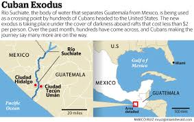 Exodus Route Map by New Exodus Of Cubans Headed To The U S Is Underway Across The