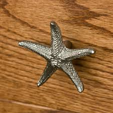 solid brass starfish cabinet knob hardware