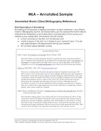 term paper bibliography MLA Style Annotated Bibliography PDF Template