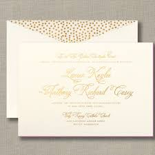 Invitation Card Of Wedding Foil Stamped Wedding Invitation With Painted Edge Wedding