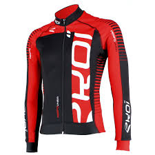 red cycling jacket ekoi perfolinea black red ls winter cycling jersey ekoi