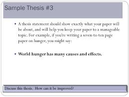 World hunger problem essays