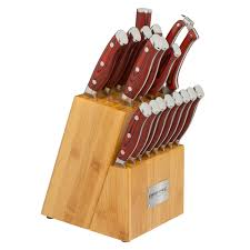 Kitchen Knive Sets by Chef Crimson 18pc Knife Block Set Red G10