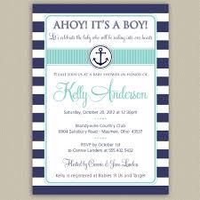 printable baby shower invitations for boys ahoy it u0027s a boy nautical striped baby shower invitation