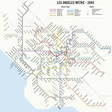 Los Angeles County Map by Map A Potential 2040 Los Angeles Metro Subway System Map 89 3 Kpcc