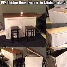kitchen island floor freezer this is a fun diy project i started