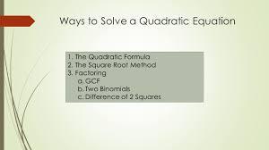 mat 150 u2013 algebra class 9 topics solving quadratics by factoring