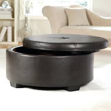 Large Storage Ottoman Coffee Table by Coffee Table Coffee Table Brown Round Leather Ottoman Large