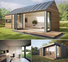 Backyard Office Prefab by De Vloer Loopt Buiten Door En De Wand Kan Helemaal Open Pod Space