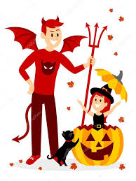 halloween characters clipart playing hide and seek with big brother on halloween clipart