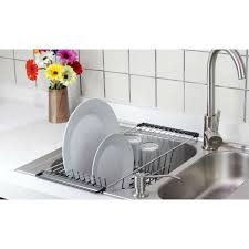 NeatO OverTheSink Kitchen Dish Drainer Rack Durable Chrome - Kitchen sink dish rack