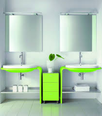 Vanity Units With Drawers For Bathroom by Dazzling Modern Bathroom Furniture Design With Green White Twin
