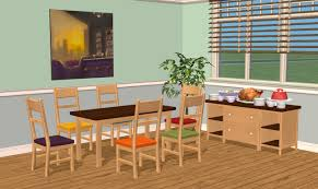 mod the sims smallhouse models dining room set