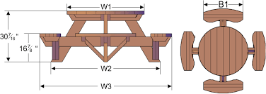 Free Wooden Picnic Table Plans by Trends Free Round Picnic Table Plans 99 For You Attractive Picnic