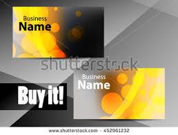Standard Business Card Design Vector Abstract Creative Business Card Modern Stock Vector