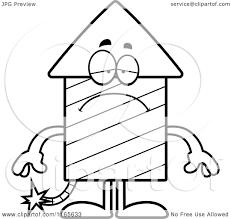 cartoon clipart of a depressed rocket firework mascot vector
