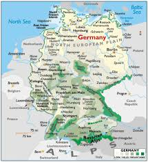 Map Germany by Physical Map Of Germany Full Size