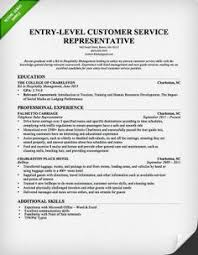 Entry Level Customer Service Resume   Download this resume sample to use as a template Pinterest