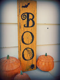 Halloween Tin Can Crafts Boo Halloween Decor Sign By Rosalynsanterre10 On Etsy 15 00